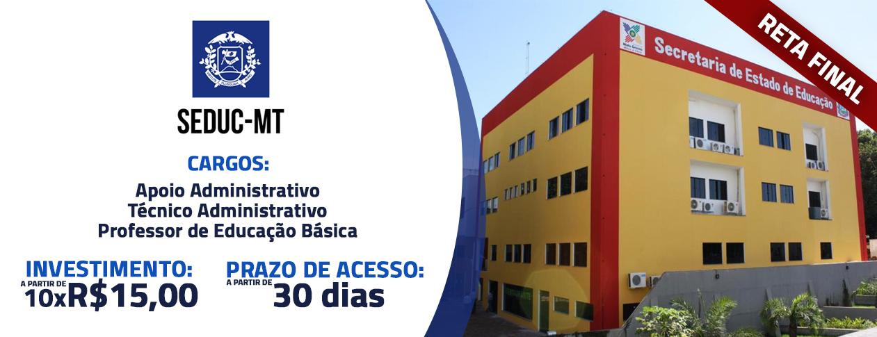 SEDUC MT 2017 - Pós Edital Apoio Administrativo - Reta Final