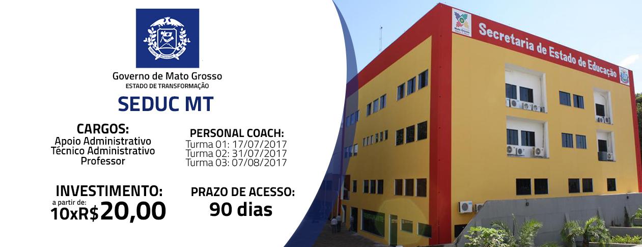 SEDUC MT 2017 - Pós Edital Apoio Administrativo - Turma 01